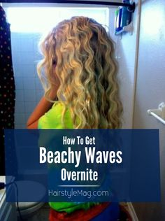 How To Get Beachy Waves Overnight: French Braid overnight. In morning spray with 1 cup water and 1 tbsp sea salt Summer Hairstyles, Pretty Hairstyles, Wedding Hairstyles, Crimped Hairstyles, Men's Hairstyle, Funky Hairstyles, Formal Hairstyles, Ponytail Hairstyles, Hairstyles Haircuts