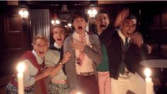 """When the fraternity boys screamed in unison. 