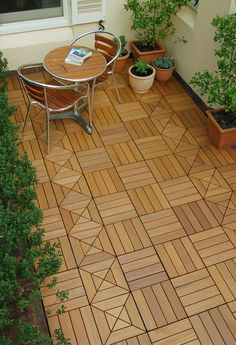 Swiftdeck Teak Tiles Interlocking Deck Wood Flooring Floors Outdoor Wooden