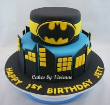 Batman Birthday Cake Superhero 1st