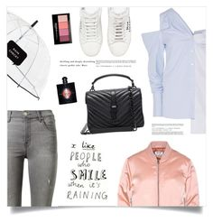 """""""April Showers"""" by marina-volaric ❤ liked on Polyvore featuring Monse, Acne Studios, J Brand, Yves Saint Laurent, Kate Spade and Maybelline"""