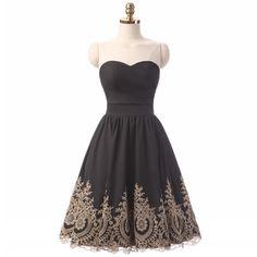Sweetheart Short Prom Dress A-Line Bridesmaid by flourishingli