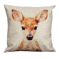 car seat cushion covers Deer Vintage Cotton Linen Pillow Case Sofa Waist Throw Cushion Cover Home Decor Almofadas Cojines 161202 Fall Pillows, Throw Cushions, Linen Pillows, Cotton Pillow, Cotton Linen, Linen Cloth, Sofa Throw, Linen Fabric, Decorative Pillow Cases
