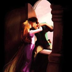 Rapunzel and Flynn Rider from Disney's Tangled. This is probably what Flynn had in mind when Rapunzel let down her hair. Disney Rapunzel, Walt Disney, Disney Pixar, Disney E Dreamworks, Rapunzel And Eugene, Tangled Rapunzel, Disney Couples, Disney Animation, Disney Girls