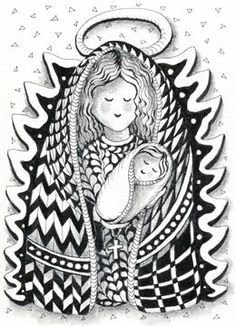 zentangle patters for christmas | So many possibilities!!! Thanks to Suzanne McNeil for the beautiful ...