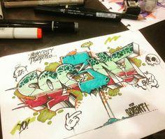 Graffiti sketch by @socentism