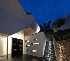 Evening Outdoot  Cascading Lava Flows Inspiring Modern Architecture: Hebil 157 Houses by Aytac Architects