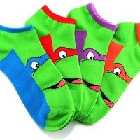 Teenage Mutant Ninja Turtles Character Ankle Socks... Oh yeah, I'd rock these at work!  Haha!