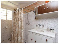 Retro Sands Beach House - downstairs bathroom Downstairs Bathroom, Sands, Beach House, Australia, Retro, Beach Homes, Bath, Retro Illustration