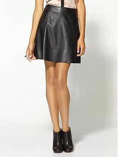 Polly Flirty Leather Skirt