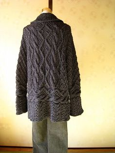Aran Jacket free pattern #japan #knitting US 6 & US 7 & US 8