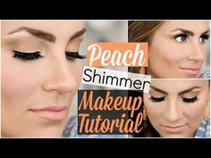 Peach Shimmer Makeup Tutorial | LORAC Unzipped Gold Palette - YouTube