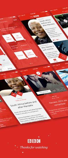 BBC News App Concept by Angelique Calmon, via Behance