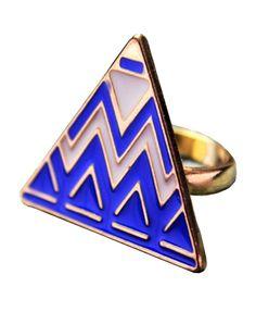 Oversized Trangle Ring