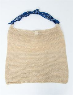 A Detacher Chambira Bag - Natural/ Blue Scarf