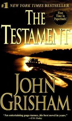 The Testament - John Grisham This is one of my faves! The twists and turns don't make you dizzy, they just keep you wanting more!