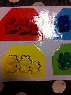 Jeu des oursons PS Classement par taille et par couleur