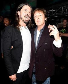 Dave Grohl and Paul McCartney