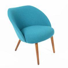 Vintage Scoop Chair in Teal   dotandbo.com