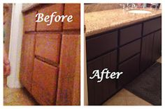 Painting cabinets  #diy #paint #bathroom #vanity