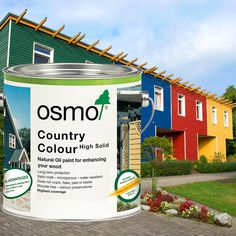 Osmo Country Colour is an opaque, satin wood finish for all exterior use of unsurpassed durability.  The deep rich colour will hide the natural colour and grain of the wood but the natural feel and texture remains. Based on natural vegetable oils, allowing the wood to breathe - will not crack, flake, peel or blister.
