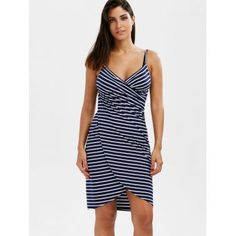 Striped Open Back Cover-ups Dress - STRIPE 2XL