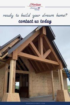 Rustic Exterior, Craftsman Exterior, Exterior Design, Front Door Entryway, Porch Posts, Entry Way Design, High Ceilings, Build Your Dream Home, Large Windows
