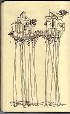 Treehouse drawing.