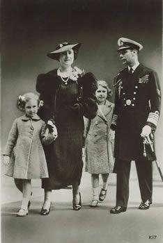 Princess Margaret Rose, Queen Elizabeth, Princess Elizabeth and King George VI