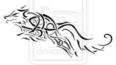 Celtic Wolf Tattoo by Relsyin.deviantart.com on @deviantART