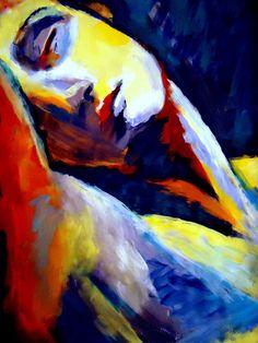 "Saatchi Online Artist: Helena Wierzbicki; Acrylic, 2012, Painting """"Mystique"""""