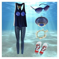 """""""Always Be Yourself... Unless You Can Be A Mermaid"""" by nicole022487 on Polyvore featuring Disney, Nanette Lepore, Chanel, Summer, mermaid, vacation and seashell"""