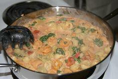 Tortalini in Tomato Cream Sauce