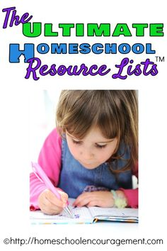 The Ultimate Homeschool Resource Lists -- enjoy the following lists we've compiled as we sought out resources to compliment our own homeschool endeavors. from #Homeschool Encouragement