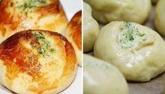 Křehoučké pečivo s česnekovým máslem | NejRecept.cz Mashed Potatoes, Dairy, Cooking Recipes, Cheese, Breakfast, Ethnic Recipes, Food, Breads, Whipped Potatoes