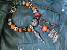 Necklace Safari Ethnic jewelry nepalese beads by necklacehandmade