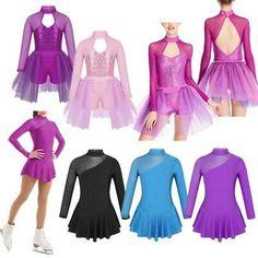 Girls Ice Skating Ballet Dance Leotard Dress Kids Stage Performance Show Costume Kids Gymnastics Leotards, Ballet Leotards For Girls, Dance Leotards, Gymnastics Cakes, Figure Skating Competition Dresses, Figure Skating Dresses, Dance Outfits, Dance Dresses, Kids Stage