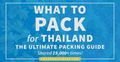 19,000+ shares and counting!! Find out EXACTLY what clothes, shoes & gear to pack for Thailand (and what to leave at home)