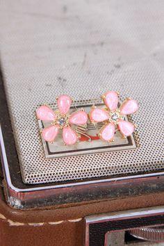 Flower Power Studs in Pink, $7.50