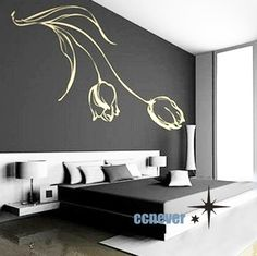 Wholesale And Retail Home Garden Wall Decor Sticker Decoration Vinyl Removeable Art Mural Home Wall Decals For Bedroom, Wall Decor Stickers, Bedroom Decor, Vinyl Decals, Decorative Stickers, Vinyl Art, Modern Bedroom, Decoration Inspiration, House Wall