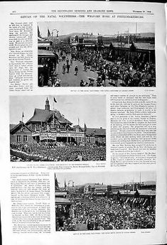 Old 1900 Naval Volunteers Pietermaritzburg Railway Station Hunters Af Victorian | eBay Antique Prints, Volunteers, Hunters, South Africa, Victorian, War