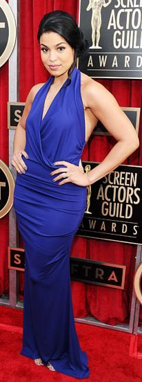 I can so see my Bridesmaids in this! Old Hollywood Look! Jordin Sparks wearing Nicole Miller