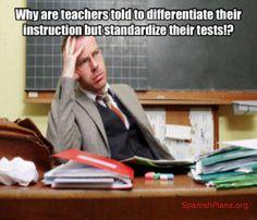 differentiate standarized test