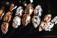Skulls! Nappa leather bracelets  Rose gold Silver  Gold  #highpointla