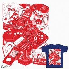 Retrogaming Joysticks on Threadless