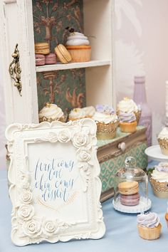Wedding dessert table sign - first comes love, then comes dessert. See more at Rebecca Chan Weddings and Events