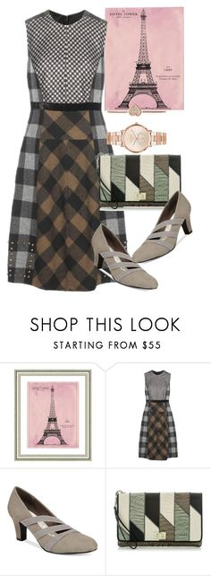 """dress"" by masayuki4499 ❤ liked on Polyvore featuring Vintage Print Gallery, Etro, Easy Street, Brahmin and Michael Kors"
