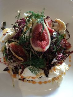 Ricotta, Figs, Radicchio, Sherry Vinegar Reduction, Pickled Onion, Dill.