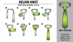 'How to Tie a Tie' Part 6/18 - Kelvin Knot