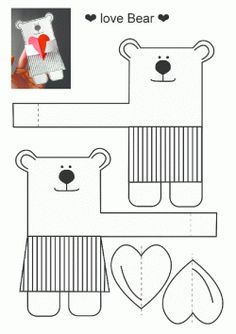 Valentine's Day Printable for kids! This makes a super easy and cute valentines card! Valentines Day Activities, Valentine Day Crafts, Holiday Crafts, Kids Crafts, Diy And Crafts, Arts And Crafts, Diy Paper, Paper Crafts, Printable Crafts